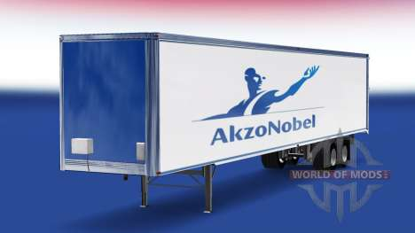 La peau AkzoNobel sur la remorque pour American Truck Simulator