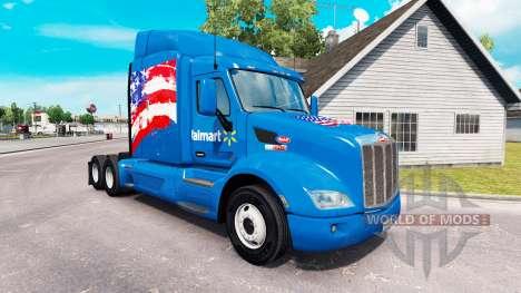La peau Walmart états-unis camion Peterbilt pour American Truck Simulator