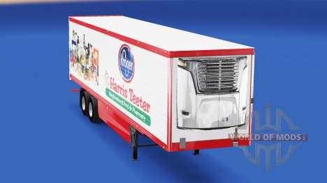La peau Harris Teeter sur la remorque pour American Truck Simulator