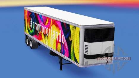 Haut PrayForOrlando auf den trailer für American Truck Simulator