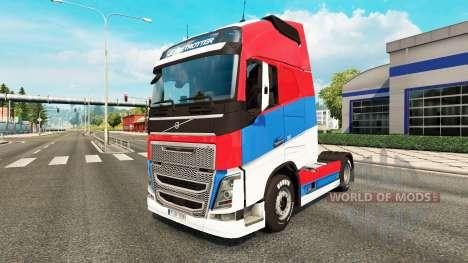 Serbien Haut für Volvo-LKW für Euro Truck Simulator 2