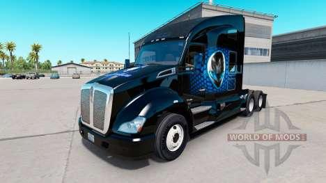 Alienware skin für Kenworth-Zugmaschine für American Truck Simulator