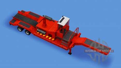 Semi-trailer mit Holzhacker für American Truck Simulator