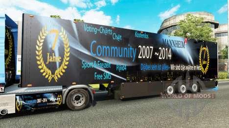 Semitrailer refrigerator Schmitz DJ Charty für Euro Truck Simulator 2