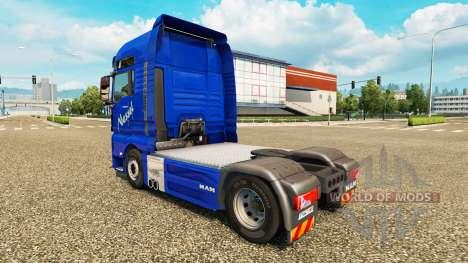 Nessel Transporte skin für den MAN-LKW für Euro Truck Simulator 2