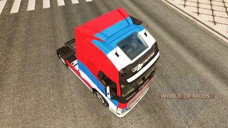 La serbie peau pour Volvo camion pour Euro Truck Simulator 2