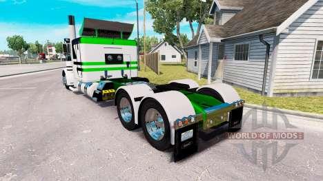 La peau Blanc-vert métallisé pour le camion Pete pour American Truck Simulator