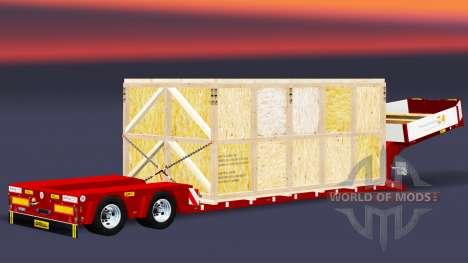 Bas de balayage avec les marchandises dans une c pour Euro Truck Simulator 2