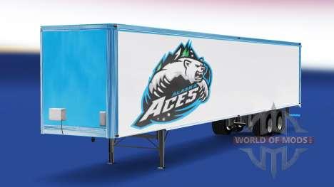 Haut-Alaska Aces, die auf dem Anhänger für American Truck Simulator