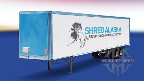 Hautfetzen Alaska auf dem trailer für American Truck Simulator