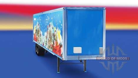 Haut Fisch v2.0 auf dem semi-trailer für American Truck Simulator