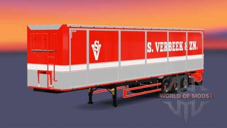 Bodex Kipper Auflieger S. Verbeek & ZN. für Euro Truck Simulator 2