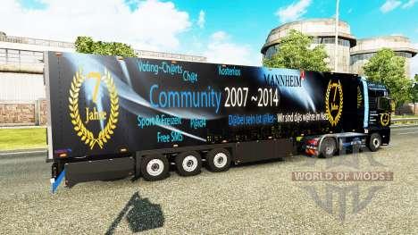 Semitrailer refrigerator Schmitz DJ Charty pour Euro Truck Simulator 2