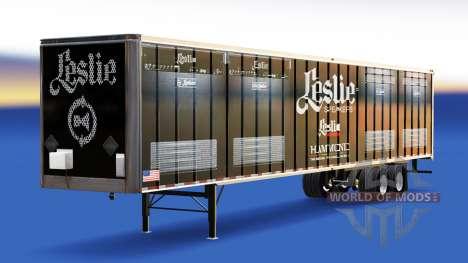 La peau Leslie haut-Parleurs sur la remorque pour American Truck Simulator