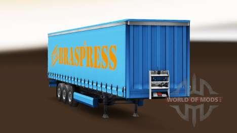 Braspress Transportes de la peau pour une remorq pour Euro Truck Simulator 2