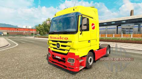 Sinalco Haut für Mercedes Benz LKW für Euro Truck Simulator 2
