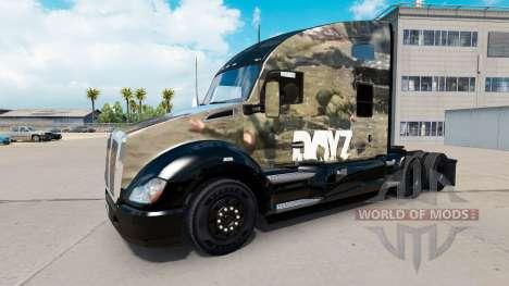 La peau DayZ sur un tracteur Kenworth pour American Truck Simulator