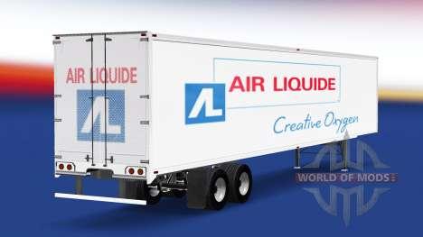 Haut Air Liquide auf dem Anhänger für American Truck Simulator