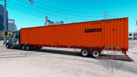 Semitrailer container Schneider für American Truck Simulator
