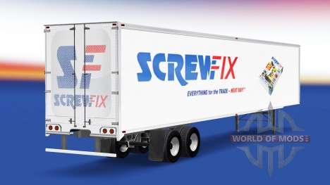 Haut Screwfix auf dem Anhänger für American Truck Simulator