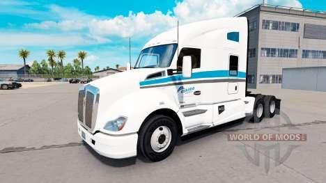 La peau Eskimo Express tracteur Kenworth pour American Truck Simulator