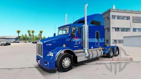 La peau Carlile Trans sur les tracteurs pour American Truck Simulator