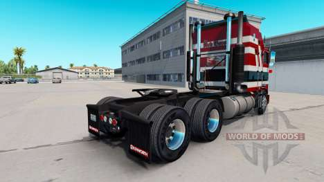 Baron rouge de la peau pour Kenworth K100 camion pour American Truck Simulator