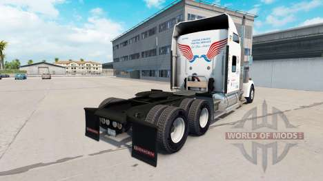 Скин United States Postal на Kenworth W900 für American Truck Simulator