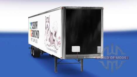 La peau Chow Chien sur la remorque pour American Truck Simulator