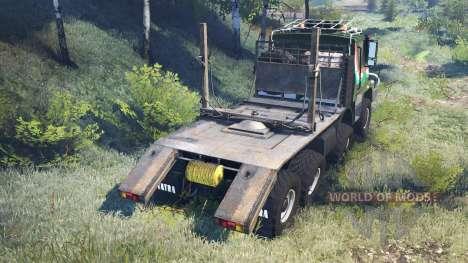 Tatra 163 Jamal 8x8 v8.0 pour Spin Tires