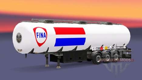 La peau de la Fina de carburant semi-remorque pour Euro Truck Simulator 2