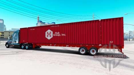 Auflieger container-Hub Group Inc für American Truck Simulator