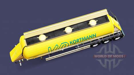 La peau Kortmann Beton est un semi-réservoir pour Euro Truck Simulator 2