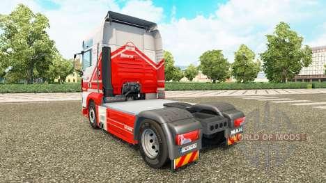 Haut auf TruckSim Traktor MAN für Euro Truck Simulator 2
