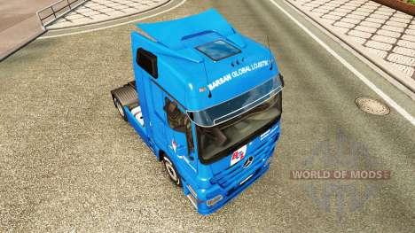 La peau BGL pour tracteur Mercedes-Benz pour Euro Truck Simulator 2