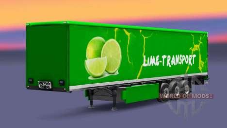 La peau Grun la Chaux sur semi pour Euro Truck Simulator 2