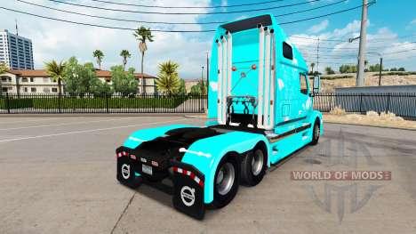 Blue fire skin für Volvo VNL 670 LKW für American Truck Simulator