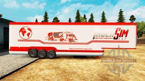 La semi-remorque-le réfrigérateur TruckSim pour Euro Truck Simulator 2