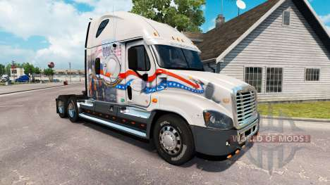 Скин de la Baie Et de la Baie de POW MIA на Freightliner Cascadia pour American Truck Simulator