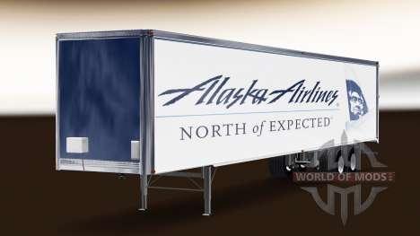 Haut Alaska Airlines auf dem Anhänger für American Truck Simulator