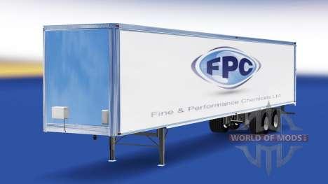 Haut-Fine & Performance Chemicals, die auf dem A für American Truck Simulator