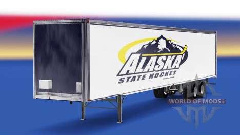 Haut Alaska State Hockey auf dem Anhänger für American Truck Simulator
