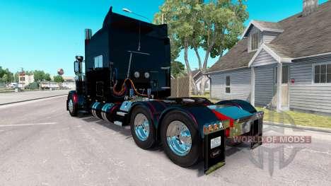 Скин Schwarz Metallic Streifen на Peterbilt 389 für American Truck Simulator
