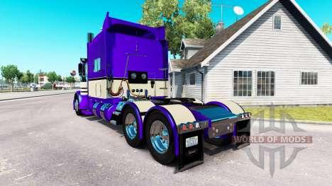 Metallic Purple skin für den truck-Peterbilt 389 für American Truck Simulator