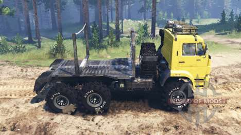 KamAZ-65222 pour Spin Tires