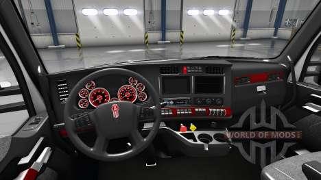 Innen Rotes Zifferblatt für Kenworth T680 für American Truck Simulator
