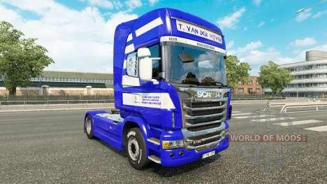 Haut T. van der Vijver auf der Zugmaschine Scani für Euro Truck Simulator 2