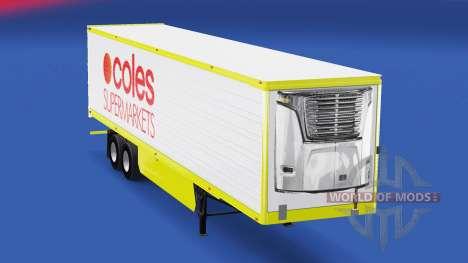 La peau Coles de Supermarchés sur la remorque pour American Truck Simulator