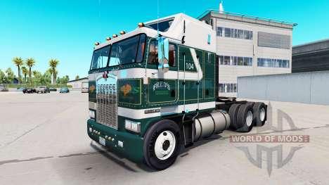 Freds de la peau pour Kenworth K100 camion pour American Truck Simulator