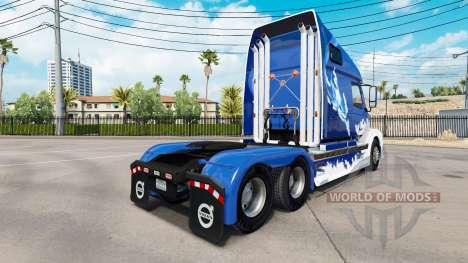 Blue Shark-skin für den Volvo truck VNL 670 für American Truck Simulator